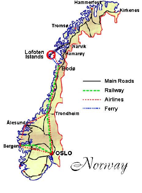 Lofoten Islands Moskenes And Flakstad - Norway map attractions