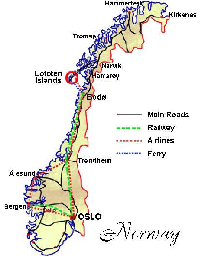 Lofoten Islands Moskenes And Flakstad - Norway map lofoten islands